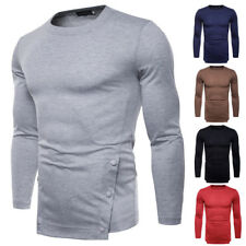 Men's casual bottom shirt solid color long-sleeved T-shirt cotton T-shirts long