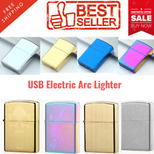 USB Electric Arc Lighter Rechargeable Flameless Windproof Candle Lighters NEW