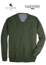KITARO. EXTRA LARGE MEN' SWEATERS V NECK  69347 GREEN