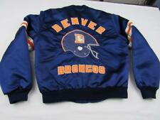 Vintage Womens Cute Blue Denver Broncos NFL Satin Jacket Size Medium Football