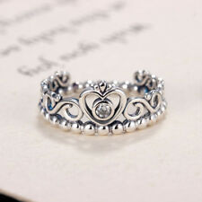Women'S Ring Fashion Plated Silver Color Pandora Ring My Princess Queen Crown