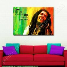 Bob Marley #2 Jamaican Reggae Quote by Alonline DSN | Poster or Wall Sticker