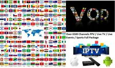 VIP IPTV SUBSCRIPTION 3-12 Months - 6500 + LiveTV + VOD + PPV Stable Service