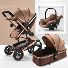 3 in 1 Bassinet&Car Seat Baby Stroller High View Pram Foldable Pushchairs~~