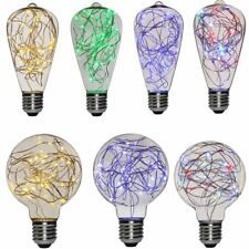 Home Decor Crystal Copper Wire LED Light Bulb E27 Wedding Party Xmax Lighting RG