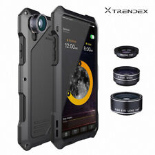 For iPhone XS MAX XR Water/Shockproof Aluminum Metal Case Cover+3 Camera Lens