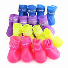 New Cute Pet Shoes Booties Dog Protective Waterproof Rain Boots S M L Good C467