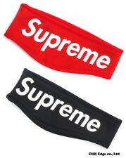 SUPREME HEADBAND Red or Black Color FLEECE New Era Logo For Men With Tag
