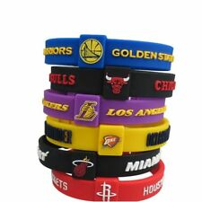 2018 Wholesale Favorite Basketball Team Sports Wristbands Silicone Fitness Size