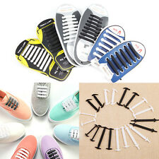 36-48x No Tie Silicone Shoelaces Elastic Silicon Run Shoe Laces Jogging Lazy