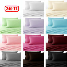 CLEARANCE PRICE Polyester Cotton 240TC Sheet Set - ALL SIZES