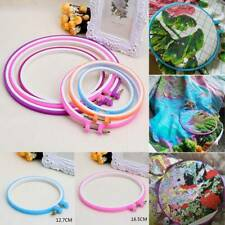 Plastic Frame Embroidery Hoop Ring Needle-craft Cross Stitch Machine Round Loop