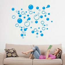 Bubbles Removable Wall Sticker Circular Shapes Bathroom Window Decal Home Decors