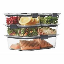 Rubbermaid Brilliance Food Storage Container, with a 100% Leak-Proof Guarantee