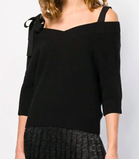 Red Valentino Women's Bow Detail Knitted Top, PR3KC153, Black, Size M