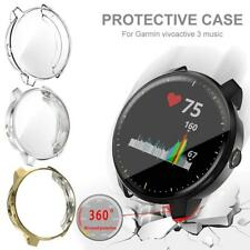 Smart Watch Protector Case Soft TPU Plated Cover for Garmin Vivoactive 3 Music