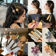 Fashion Flower Crystal Barrette Bobby Pin Hair Clip Hairband Comb Hairpin Gift