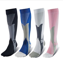 Miracle Copper Fit Anti-Fatigue Compression Socks For Men & Women 3 Pairs Runnin
