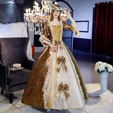 Lady Victorian Dress Costume Medieval Prom Ball Gown Gothic Retro Elegant Chic
