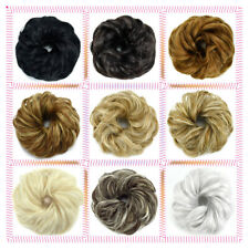 US Curly Messy Bun Hair Piece Scrunchie Updo Fake Natural Look Extensions F17