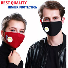 WASHABLE FLU VIRUS MEDICAL DUST MOUTH FACE MASK COTTON ACTIVATED CARBON FILTER