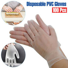 Lot 100Pcs PVC Disposable Gloves Transparent Gloves for Kitchen Cooking Cleaning