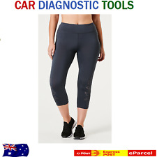 Active Women Laser Cut Crop Leggings Wide elastic waistband internal coin Pocket