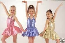 Funky Sequin Jazz Modern Tap Dress Dance Costume Childs