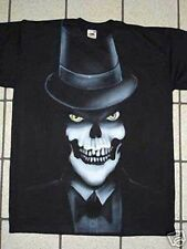 Airbrushed Gothic Skeleton Undertaker t-shirt all sizes
