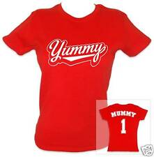 YUMMY MUMMY Women's T-shirt (Red/White) - Ideal Gift!