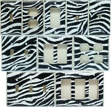 ZEBRA LIGHT SWITCH & OUTLET COVERS (CREATE YOUR ORDER)