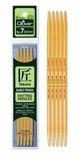 """Clover Bamboo 5"""" Double Point Knitting Needles; Choose Size"""