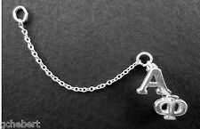 Sorority Chapter Pin Guard .925 Sterling Silver Custom Two Letter By McCartney