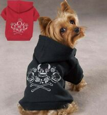 Dog Skull Crossbone Sweatshirt Hoodie pink black coat Pet New