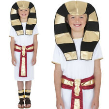 KIDS CHILDS EGYPTIAN KING BOY PHAROAH FANCY DRESS COSTUME HISTORICAL OUTFIT