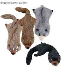 """Dog Toy Unstuffies Plush Toy  2 squeakers 22 """" tug Mongoose Fisher Cat Opossum"""