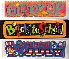 Frances Meyer  PAGE TITLE STICKER TOPPERS Your Choice GIDDY UP/WESTERN JULY 4TH