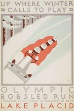 Lake Placid Olympic Poster