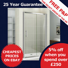 Sliding Bathroom Walk In Safety Glass Screen Shower Door Enclosure Cubicle, Tray