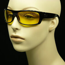 HD HIGH DEFINITION NIGHT DRIVING VISION  SUN GLASSES YELLOW SHOOT NEW MP64
