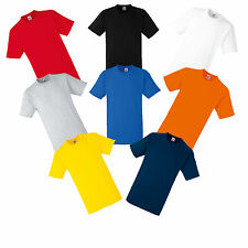 3 PLAIN FRUIT OF THE LOOM COTTON T-SHIRTS S M L XL XXL