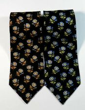 "GORGEOUS ""UMBERTO SCOLARI"" SILK Floral TIE, MADE IN ITALY. 4"" Wide 58"" Long"