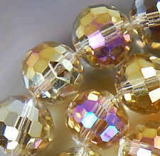 10x12mm Faceted Light Golden AB Crystal Beads 36pcs