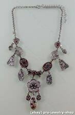 Tibet Silver Necklace with Turquoise Crystal NA614