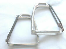 """Peacock Safety Stirrup Irons + treads in 3.5"""",4"""" & 4.5"""""""