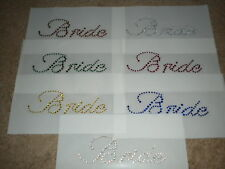 Bride Hot Fix Rhinestone Iron On Transfer Bridal