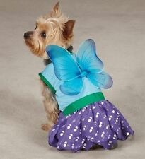Dog Halloween Costume Woodland Fairy  XS-L Pet Casual Canine Blue