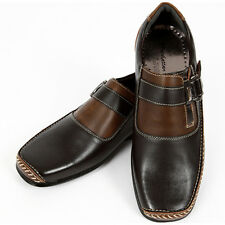 Mens Band Loafers Casual Sneakers Shoes Brown