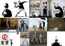 BANKSY COLLAGE Photo Poster Print Wall Art Large