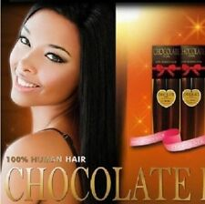 "EVERTRESS CHOCOLATE YAKY WEAVE EXTENTION 14"" 100% HUMAN HAIR"